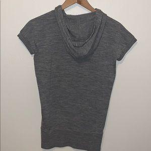 J. Crew Sweaters - J Crew Short Sleeve Merino Wool Hoodie